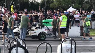 Cleetus McFarland VS BoostedBoiz golf cart drag race! Cleetus and cars