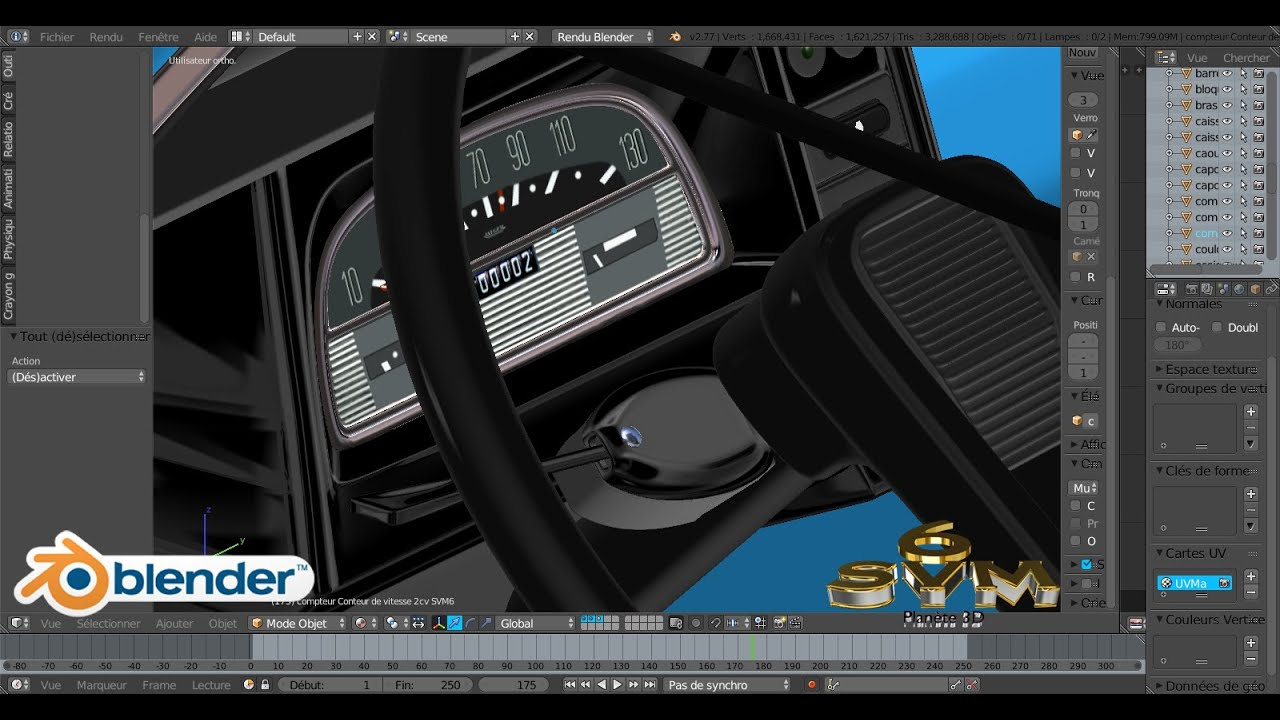 mod liser une voiture 2cv citro n a z tutoriel svm6 n 119 le compteur de vitesse youtube. Black Bedroom Furniture Sets. Home Design Ideas