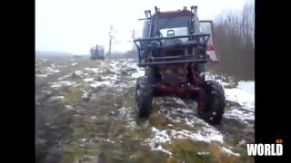 #Amazing biggest CASE tractor accident - amazing tractor stuck in mud - Agriculture equipment accid