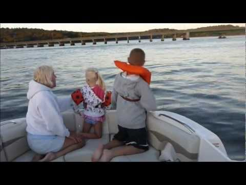 """Dolphins with the Grandchildren 2012 Navesink River NJ   """"Point when ya see 'em!"""""""