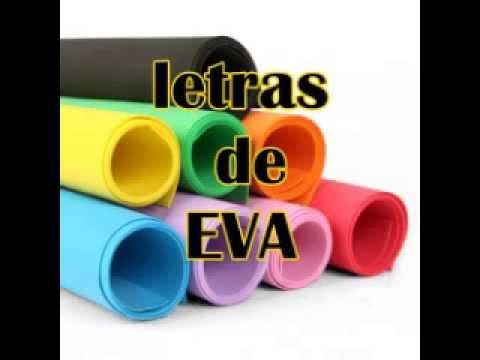 Diy Letra De Eva Super Facil Youtube