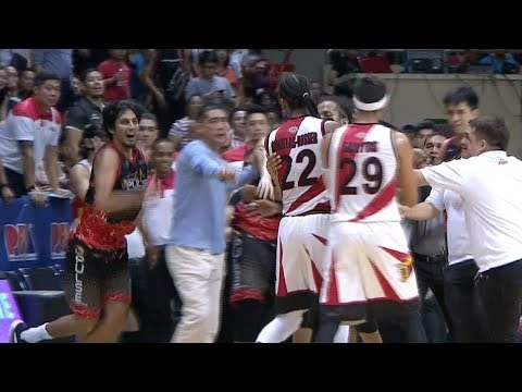 San Miguel - Phoenix SCUFFLE in Game 4 (VIDEO)