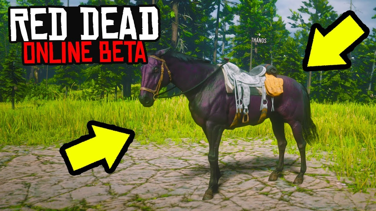 FREE BEST HORSE in Red Dead Online! Red Dead Redemption 2 Best Horse FREE!  RDR2 Online - Uncover the USA!