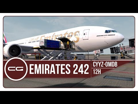 P3D v4 | EPIC SUNRISE AT CRUISE! | CYYZ (Toronto) - OMDB (Dubai) | UAE242 | PMDG 777-300ER