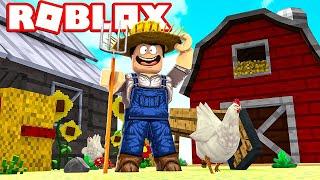 BUILDING A FARMER FARM! -Roblox Farming Tycoon di ComKean