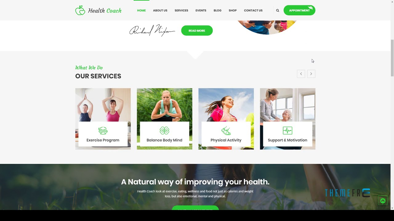 Health Coach Html Template For Personal Life Coaching Website