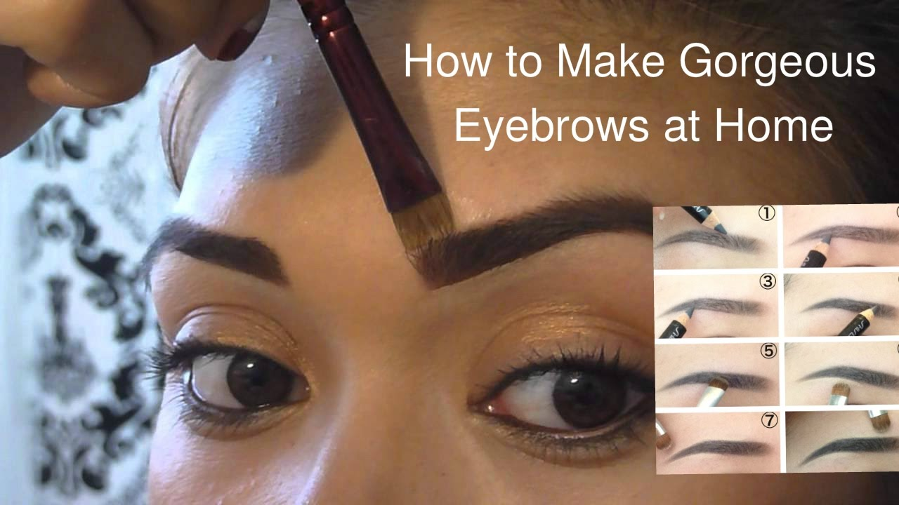 How to Make Gorgeous Eyebrows at Home