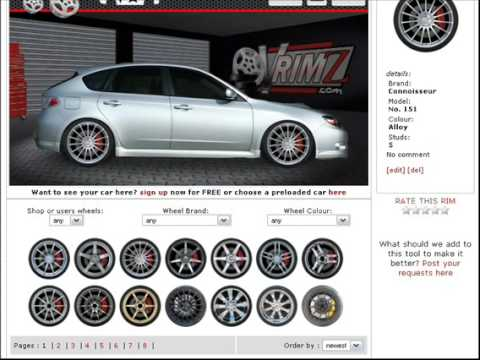 Change Your Actual Cars Wheels Online Without Photoshop And For - Rim websites that show your car