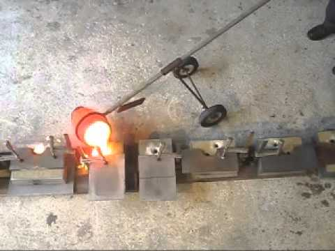 Cast iron melting in the home foundry