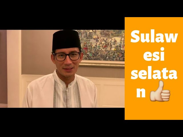 Inilah Ucapan Terima Kasih, Sandiaga Uno Untuk Sulawesi Selatan