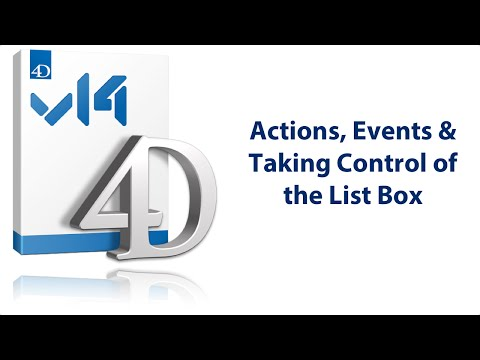 Actions, Events & Taking Control of the List Box