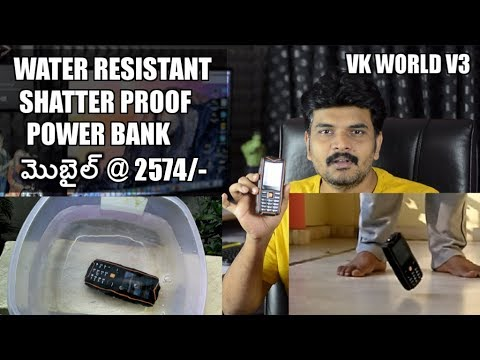 VKWorld stone IP67 Water & Shatter proof mobile ll in telugu ll