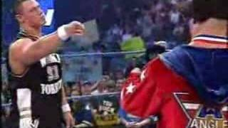 John Cena Battling Kurt Angle In Rapping
