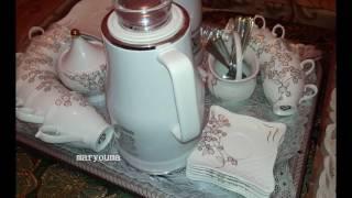 مريومة تحضير صينية القهوة للضيوف بأشكال  مختلفة