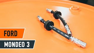 How to change Brake Hose on FORD MONDEO III Estate (BWY) - online free video
