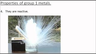 The Group 1 Alkali Metals