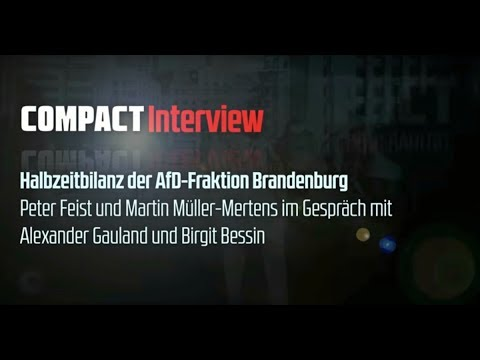 Exklusiv: COMPACT-Interview mit Alexander Gauland und Birgit Bessin (AfD Brandenburg)