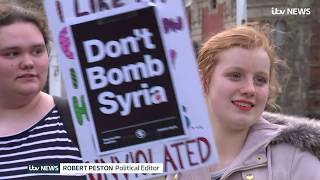 Protests in and out of Parliament over UK's Syria airstrikes | ITV News