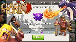 Clash Of Clans| RACE TO CRYSTAL LEAGUE | GDWG!!!!!!