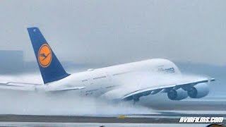 Frankfurt airport big airplanes A350 A380 B747