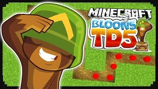 Bloons Tower Defense + Minecraft = This