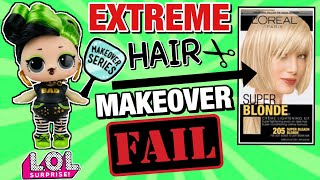 EPIC FAIL! WE BLEACHED BHADDIE'S HAIR! LOL SURPRISE HAIRGOALS EXTREME MAKEOVER FAIL! DIY