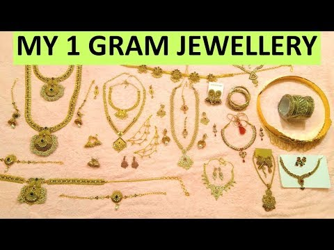 My 1 Gram Jewellery Collection || South Indian Jewellery Collection ||  In Telugu
