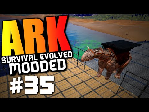 ARK Survival Evolved - GIANT SHIP BASE, LVL 170+ PARACERATHERIUM! Modded Survival #35 (ARK Gameplay)