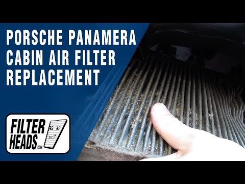 How to Replace Cabin Air Filter 2010-2016 Porsche Panamera
