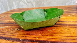 How to Make Plate from Banana Leaf