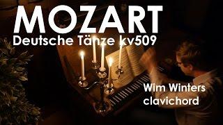 W.A.Mozart :: Sechs Deutsche Tänze KV509 :: Wim Winters, clavichord