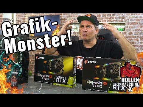GRAFIK-OVERKILL: 2x MSI Geforce RTX 2080 Ti in der Höllenmaschine X #JetztGehtsLos #HMX
