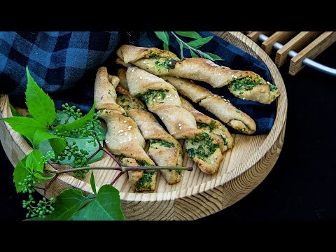 Pizza Dough Twisters With Parsley And Sesame