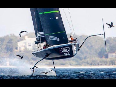 Moнохол возвращается в гонки. На парусе по воде  со скоростью 100 км/ч American Magic, Emirates Team