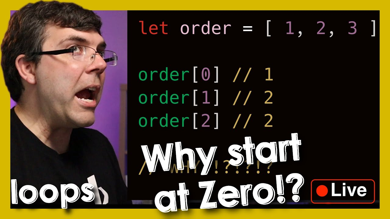 Loops Part 6: Who do Arrays Start at 0? - Live Mentorship Session - Beyond Code Bootcamp