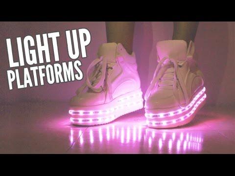 LED Light Up Platform Shoes! - YouTube
