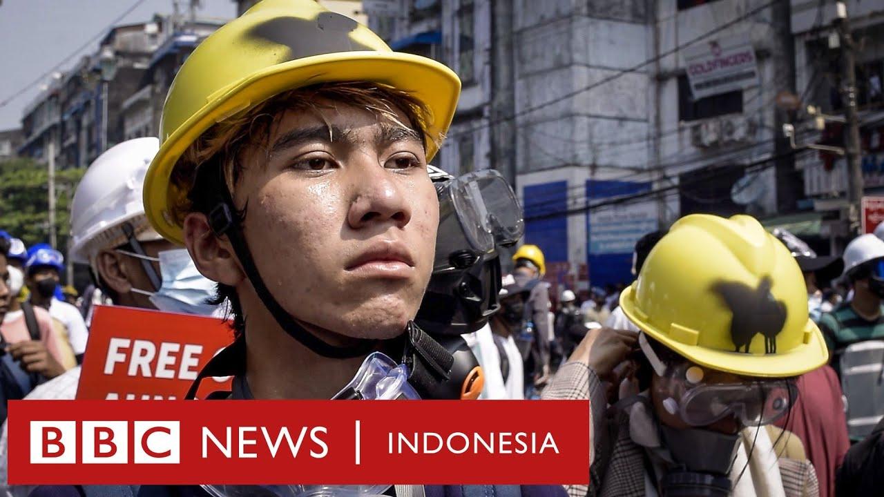 Revolusi Myanmar: 'Kami akan berjuang sampai pemimpin zalim terbakar di neraka' - BBC News Indonesia
