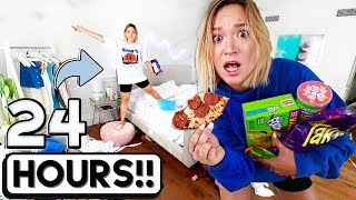 Download 24 HOUR OVERNIGHT ROOM CHALLENGE!! *I went crazy* Mp3 and Videos