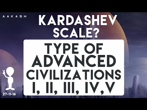 What is Kardashev Scale?. Types of advanced civilizations - I,II,III,IV,V.