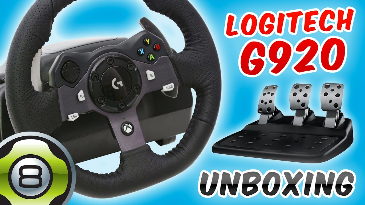volant logitech g920 pour xbox one et pc unboxing fr youtube. Black Bedroom Furniture Sets. Home Design Ideas