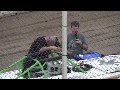Rob Put receives Michigan Auto Racing Fan Club (MAFAC) driver appreciation helmet bag. - dirt track racing video image