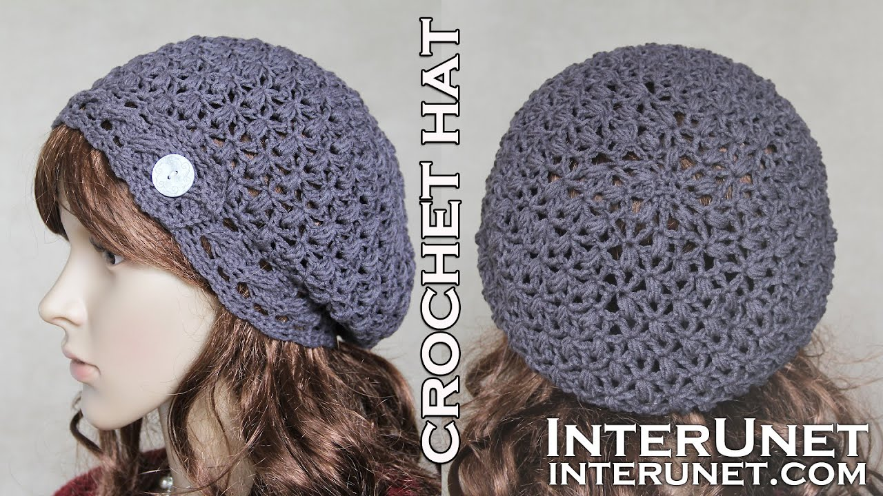 Crochet slouchy hat pattern for beginners youtube crochet slouchy hat pattern for beginners dt1010fo