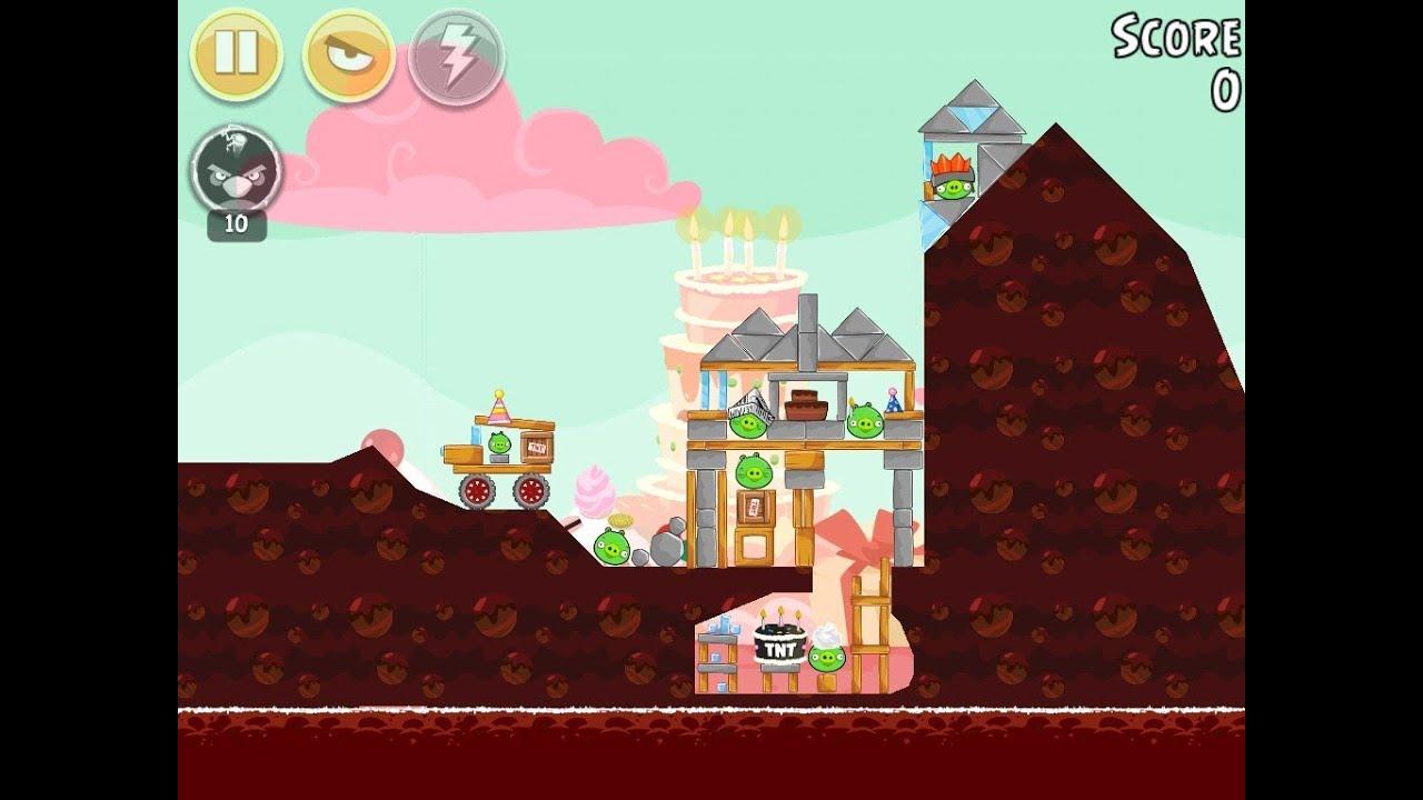 Angry Birds Birdday Party Cake 4 Level 14 Walkthrough 3