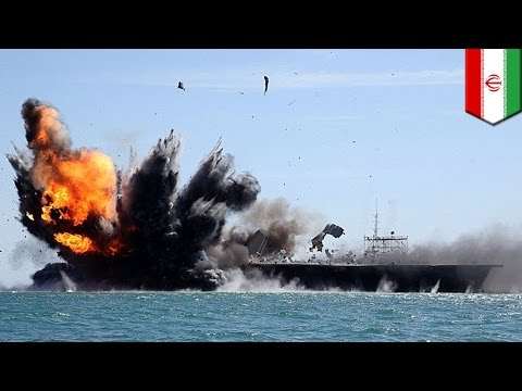 Iran's republican guard blows up replica U.S. carrier in 'Great Prophet 9' military drills