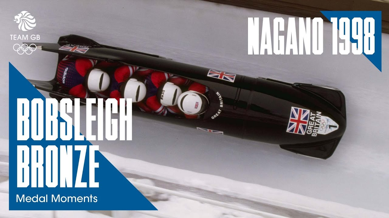 Team GB win bobsleigh bronze at the Nagano 1998 Olympic Winter Games