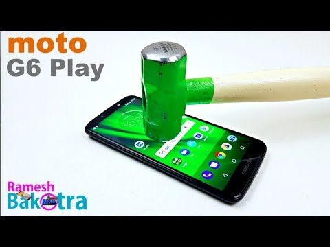 Moto G6 Play Screen Scratch Test Gorilla Glass