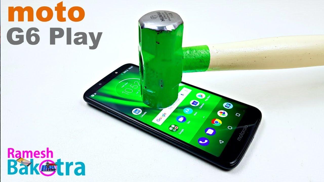 Moto G6 Play Screen Scratch Test Gorilla Glass