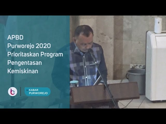APBD Purworejo 2020 Prioritaskan Program Pengentasan Kemiskinan