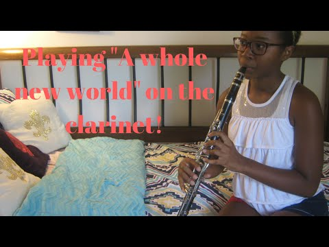 Clarinet playing A whole new world from Aladdin!  ItsmeSavy