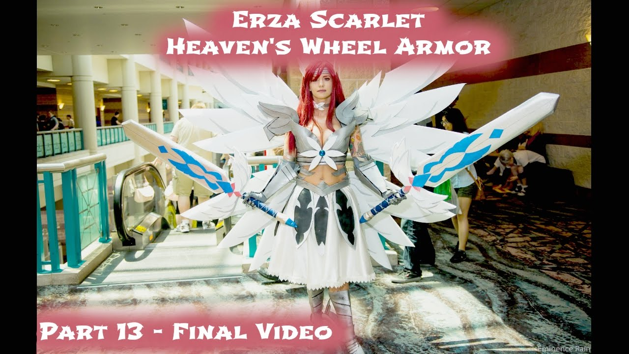 Erza Scarlet Heaven S Wheel Armor Cosplay Part 13 Youtube
